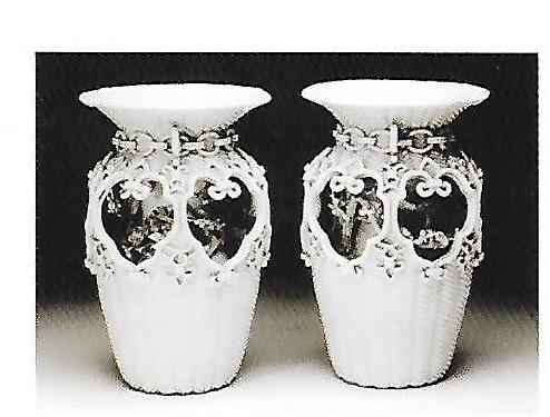 白磁籠目瓶(出石神社所蔵)