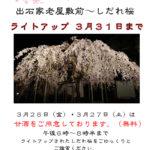 出石過労屋敷前 夜桜会 3月31日まで